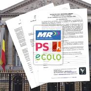 Illustration des trois pactes et logos des partis