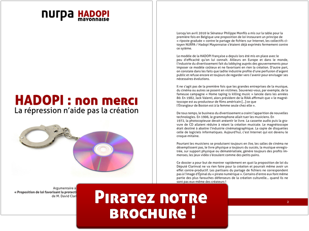 Téléchargez la brochure 'HADOPI : non merci'